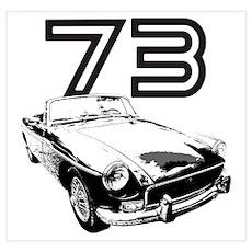 1973 MG Midget Poster
