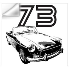 1973 MG Midget Wall Decal