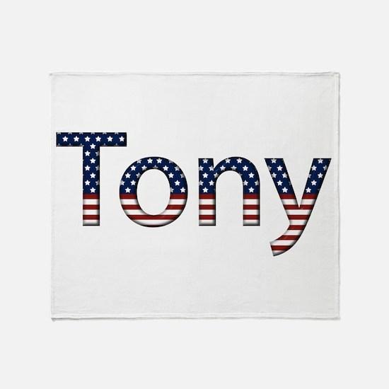 Tony Stars and Stripes Throw Blanket
