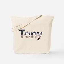 Tony Stars and Stripes Tote Bag