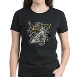 Anderson Tartan Lion Women's Dark T-Shirt - Scottish lion rampant with the Anderson clan tartan and a banner with the family name. - Availble Sizes:Small,Medium,Large,X-Large,2X-Large (+$3.00) - Availble Colors: Black,Red,Caribbean Blue,Pink,Charcoal Heather,Kelly,Navy