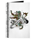 Anderson Tartan Lion Journal - Scottish lion rampant with the Anderson clan tartan and a banner with the family name.