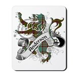 Anderson Tartan Lion Mousepad - Scottish lion rampant with the Anderson clan tartan and a banner with the family name.