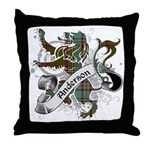 Anderson Tartan Lion Throw Pillow - Scottish lion rampant with the Anderson clan tartan and a banner with the family name. - Availble Sizes:Cover + Insert,Cover Only