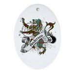 Anderson Tartan Lion Ornament (Oval) - Scottish lion rampant with the Anderson clan tartan and a banner with the family name.
