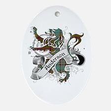 Anderson Tartan Lion Ornament (Oval)