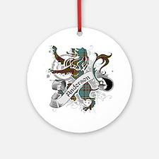 Anderson Tartan Lion Ornament (Round)