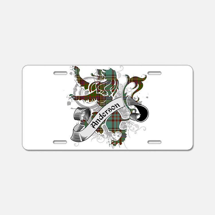 Anderson Tartan Lion Aluminum License Plate