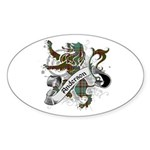Anderson Tartan Lion Sticker (Oval) - Scottish lion rampant with the Anderson clan tartan and a banner with the family name. - Availble Sizes:Small - 3x5,Large - 4.5x7.5 (+$1.50) - Availble Colors: White,Clear