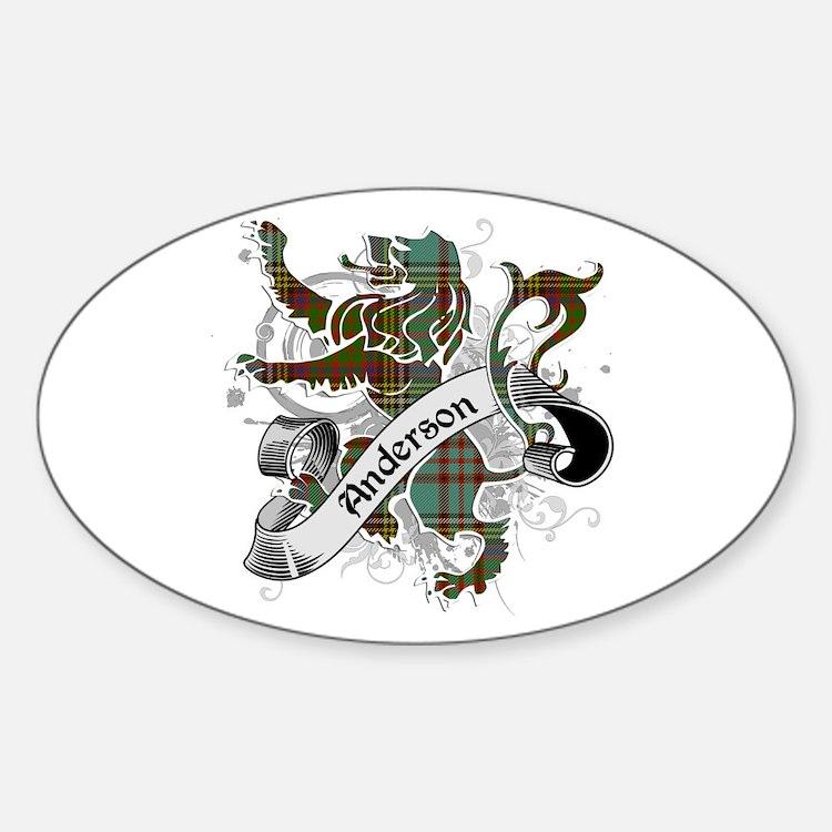 Anderson Tartan Lion Sticker (Oval)