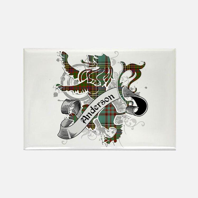 Anderson Tartan Lion Rectangle Magnet