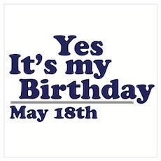 May 18 Birthday Poster