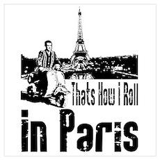 Vespa Scooter Paris France Poster
