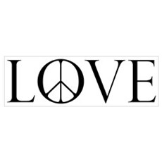 Love Peace Sign Poster