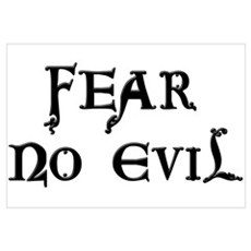 """Fear No Evil"" Framed Print"