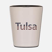 Tulsa Stars and Stripes Shot Glass