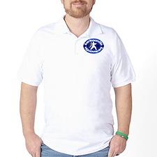 TKD Left Foot Forward Blue T-Shirt