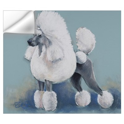 White Standard Poodle Wall Decal
