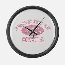 Property of Skyla Large Wall Clock