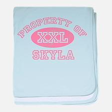 Property of Skyla baby blanket