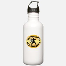 TKD Left Foot Forward Gold Water Bottle