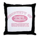 Property of Simone Throw Pillow