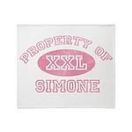 Property of Simone Throw Blanket