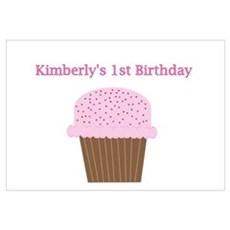 Kimberly's First Birthday Cup Poster