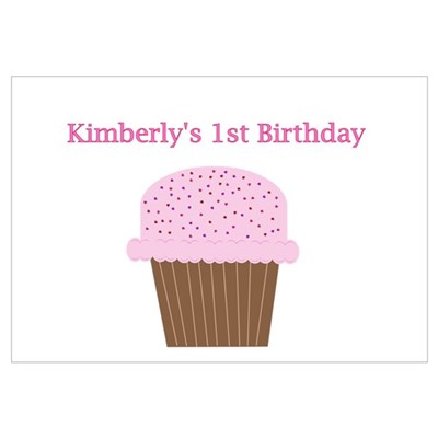 Kimberly's First Birthday Cup Canvas Art