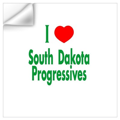 I Love SD Progressives Wall Decal