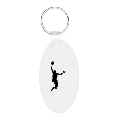 Basketball Aluminum Oval Keychain