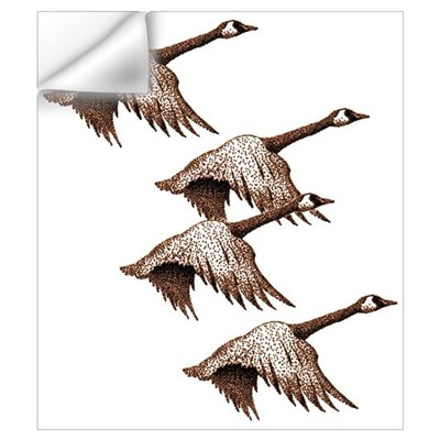 Canada Geese Flying Wall Decal
