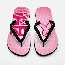 Think Hope (DkPink/Pink) Flip Flops