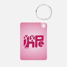 Think Hope (DkPink/Pink) Keychains