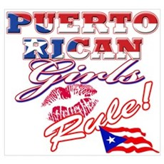 Puerto rican girl Canvas Art