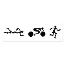 TRI Triathlon BLACK Figures Car Sticker