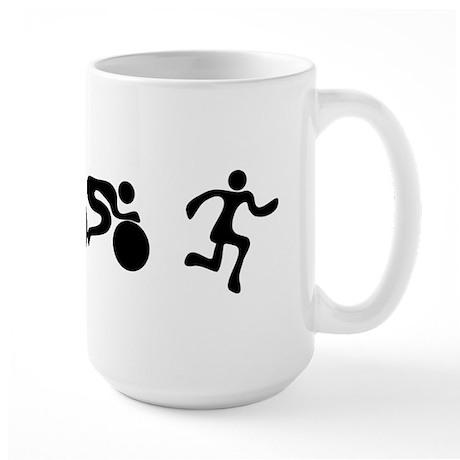 TRI Triathlon BLACK Figures Large Mug