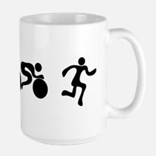 TRI Triathlon BLACK Figures Large Mug