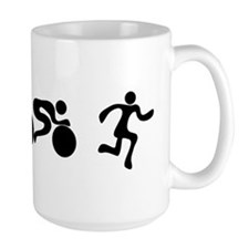 TRI Triathlon BLACK Figures Mug