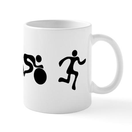 TRI Triathlon BLACK Figures Mug