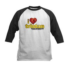 I Heart Tristan MacManus Kids Baseball Jersey