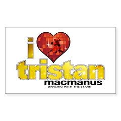 I Heart Tristan MacManus Rectangle Decal