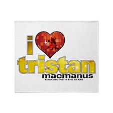I Heart Tristan MacManus Throw Blanket