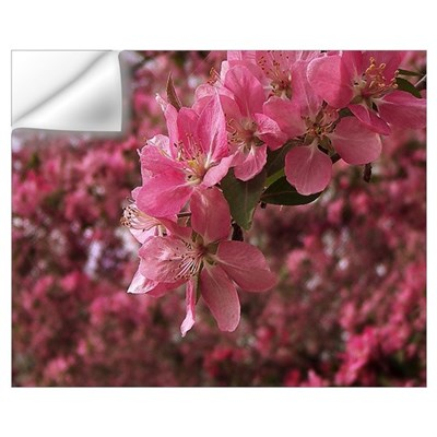 Red Bud Blooms Wall Decal