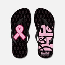 Think Hope (LtPink/Black) Flip Flops