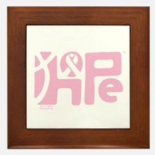 Think Hope (LtPink/Black) Framed Tile