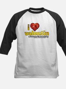 I Heart Valentin Chmerkovskiy Kids Baseball Jersey