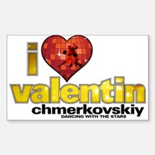 I Heart Valentin Chmerkovskiy Rectangle Decal
