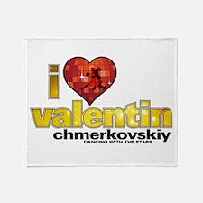 I Heart Valentin Chmerkovskiy Throw Blanket