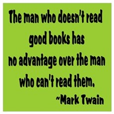 Twain--Good Books Framed Print